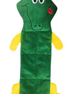 Alligator Squeaker Mat Pet Toy