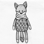 Fox 3D Plush Pet Toy