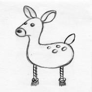 Deer 3D Plush Pet Toy
