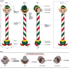 Elf Long Neck Pet Toy Tech Pack