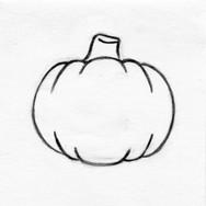 Pumpkin Flattie Pet Toy