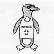 Penguin Flattie Pet Toy