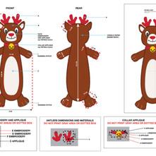 Reindeer Flattie Pet Toy Tech Pack