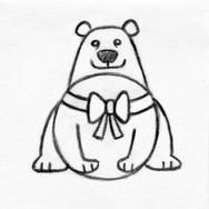 Polar Bear Small Squeaker Disk Pet Toy
