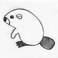 Beaver 3D Plush Pet Toy