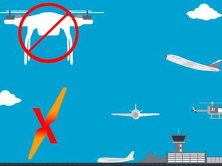 POSSO VOAR PRÓXIMO A AEROPORTOS?
