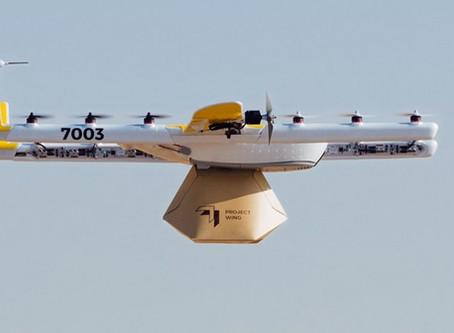 GOOGLE OBTÉM APROVAÇÃO PARA ENTREGAS COM DRONES