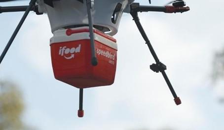 IFOOD ANUNCIA ENTREGA COM DRONES NO BRASIL AINDA ESTE ANO