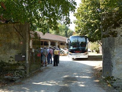 Car pour la visite de la ferme - Noix de Grenoble