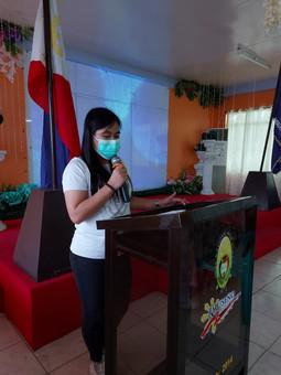 Ms. Milany Almazar serves as Master of Ceremony