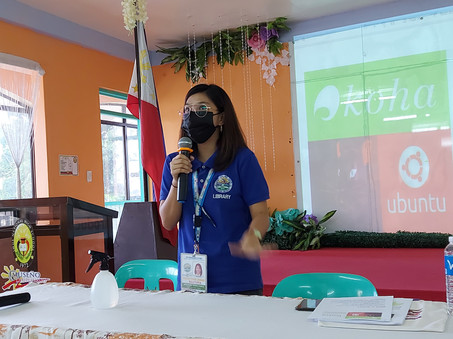 For the day 1, Ms. Kristine Bautista discussed the modules 1-3 of KOHA ILS