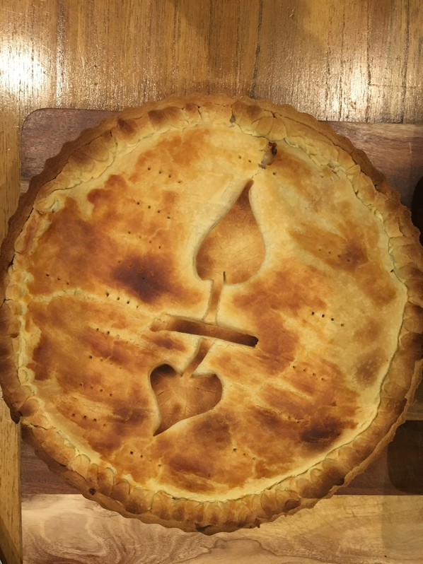 Homemade Chicken Pie with Homemade Pastry