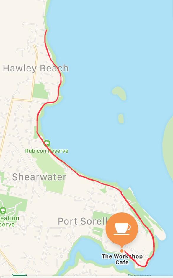 Cafe to Hawley Beach Walk