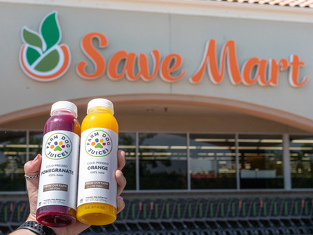 Farm Dog Juices in Save Mart and Lucky's!
