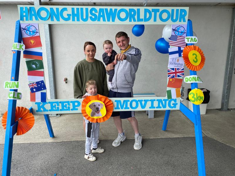 6 Pupil Danny Molloy with his parents De