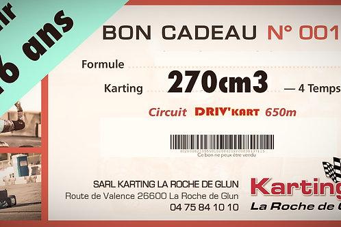 Séance de 15 minutes, Kart GT5-R 270cm3