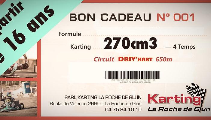 2 Séances de 15 minutes, Kart GT5-R 270cm3