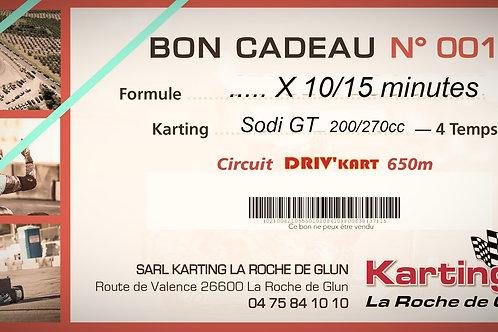 4 Séances de 15 minutes, Kart GT5 200cm3
