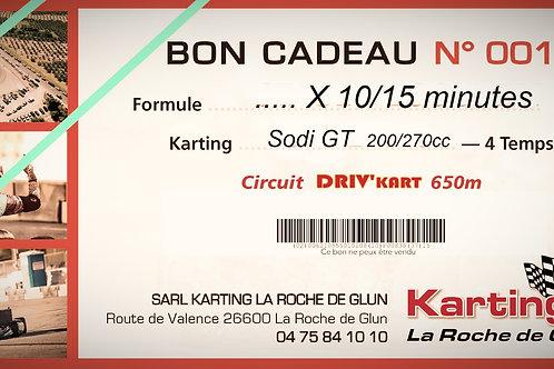 Séance de 10 minutes, Kart GT5 200cm3