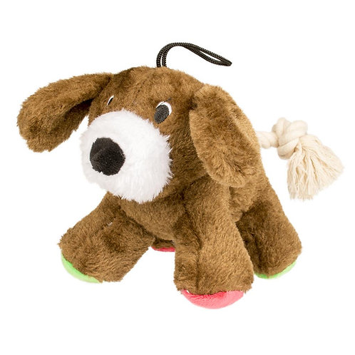 Duvo Plush Dog With Rope Tail