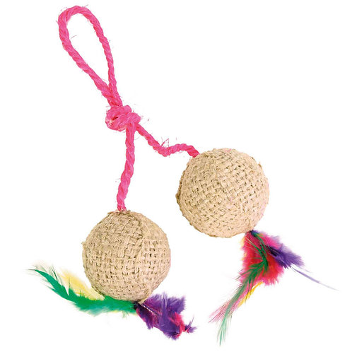 Jute Balls on a Rope