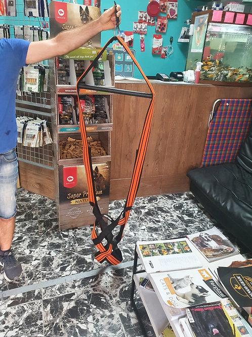 Orange Weight Pulling Harness