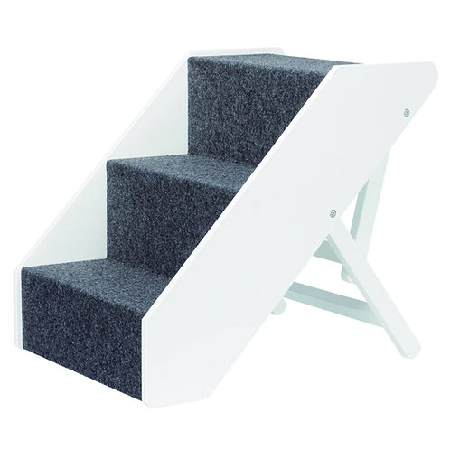 Pet Stairs, height-adjustable, 40 x 67 cm, white