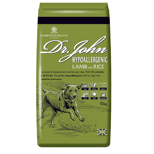 Dr. John Hypoallergenic lamb with rice and vegetables (15kg or 4kg)