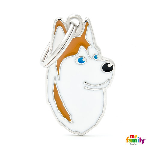 Siberian Husky        (CODE MF13WHITEBROWN)        (Friends Edition)