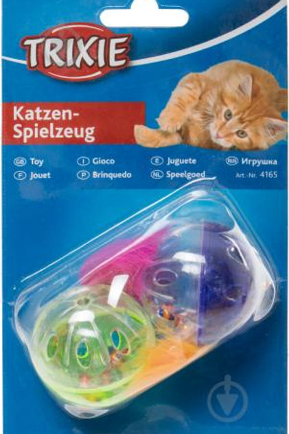Rattling Balls with Tails  2pcs