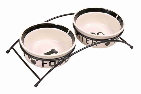 Trixie Eat on Feet Bowl Set with Stand