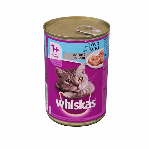 Whiskas 1+ cat Loaf 400g Cans  x24 pack or buy single cans