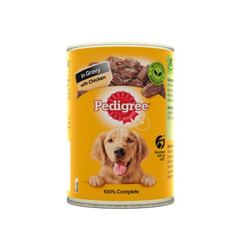 Pedigree Chicken in Gravy Wet Dog Food Cans - x24 or by single cans