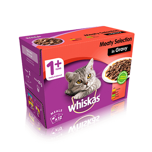 Whiskas Economy Pack x12 Box Classic Meat Selection  100g each