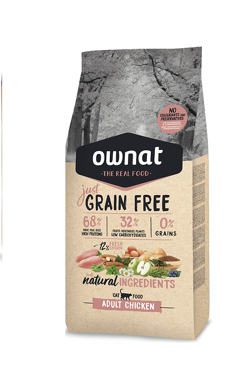 Ownat Cat (Grain Free) (Adult Chicken) 1kg - 3kg
