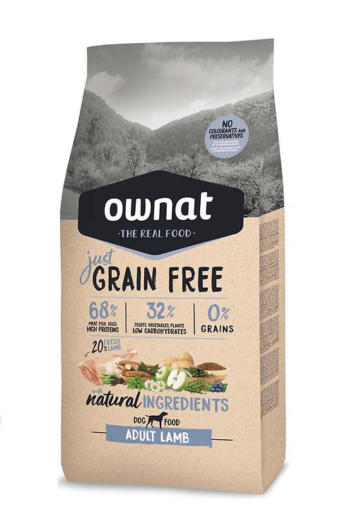 Ownat Grain Free Adult Lamb  Size - 3-14kg