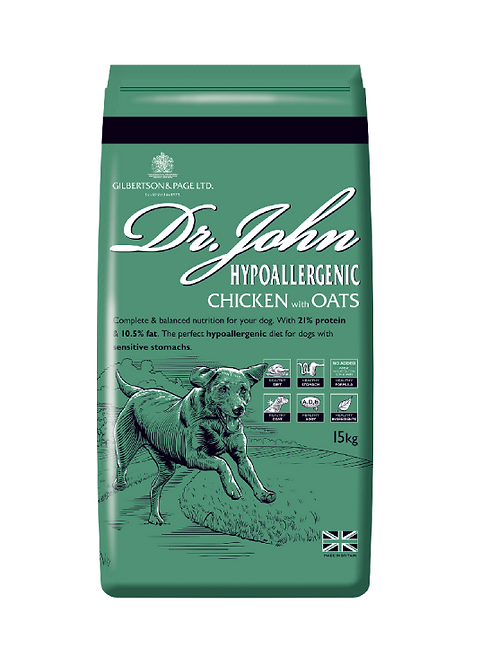 Dr. John Hypoallergenic Chicken with Oats (15kg or 4kg)