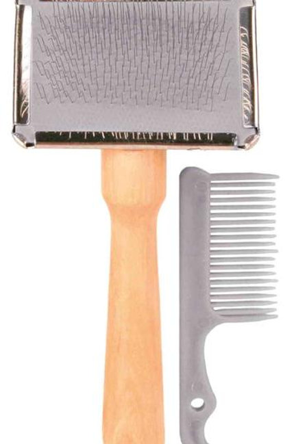 Slicker Brush with Cleaning Comb