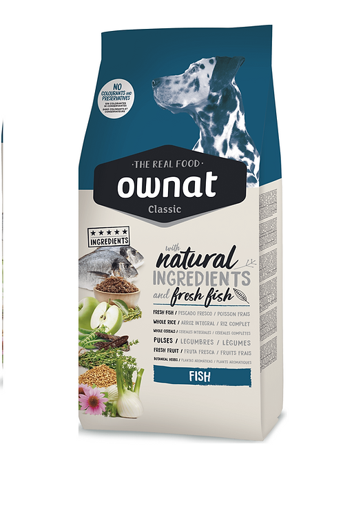 Ownat Classic (Fish)    size - 20kg - 4kg      (Breeders Choice)