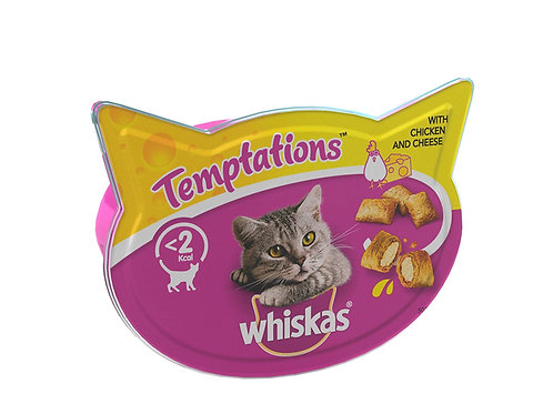 Whiskas Temptations treats  (Sold as single packet) 60g