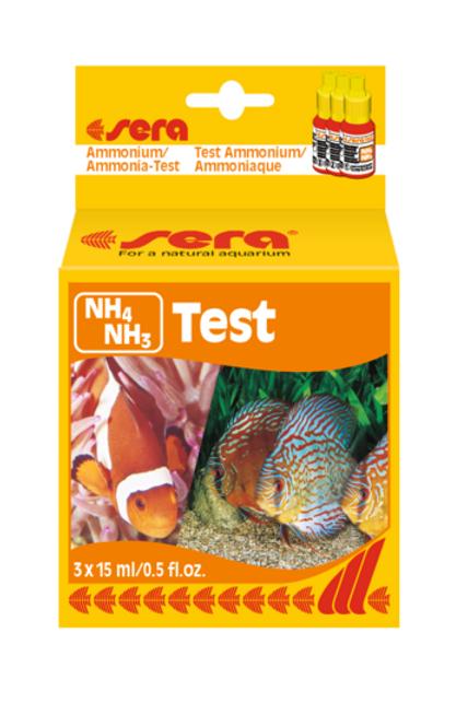 Sera Ammonium/Ammonia-Test (NH4/NH3) - 3x15ml/0.5 fl.oz.