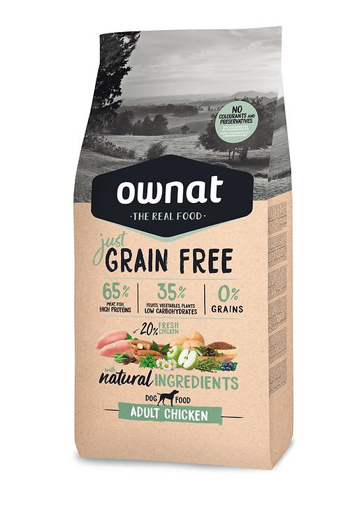 Ownat Grain Free Adult Chicken  Size - 3-14kg
