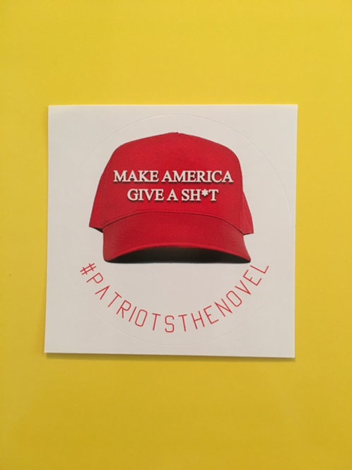MAGA-SH*T Laptop Sticker (Hat White)