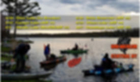 Kayak Anglers of CNY 2018 Schedule