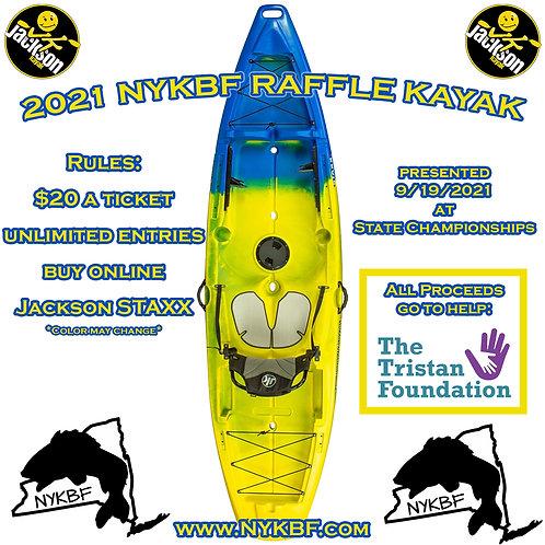 2021 charity Kayak Raffle ticket