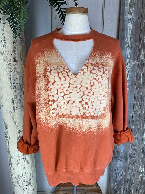 Leopard Bleach Sweatshirt