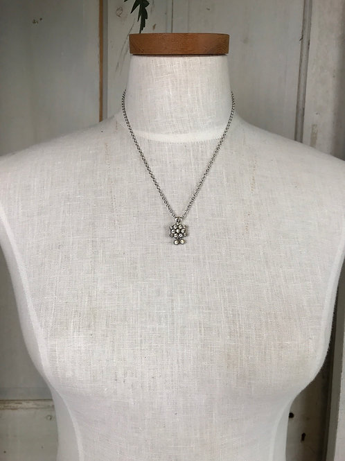 Short Silver Layering Necklace