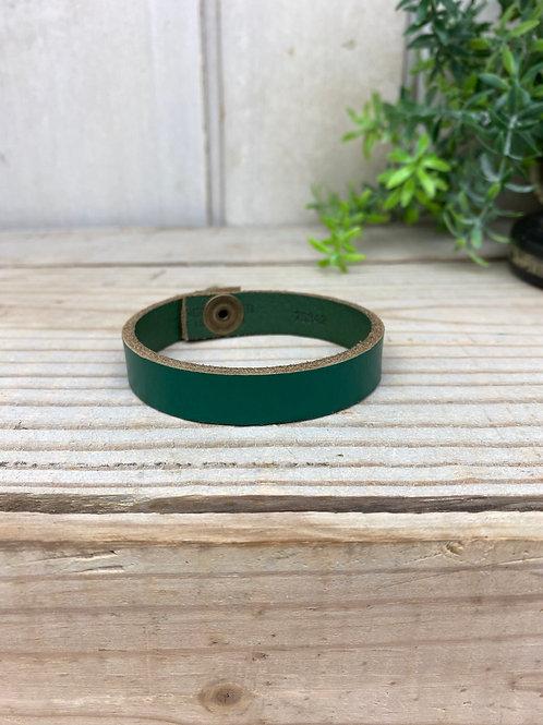Green Skinny leather Cuff