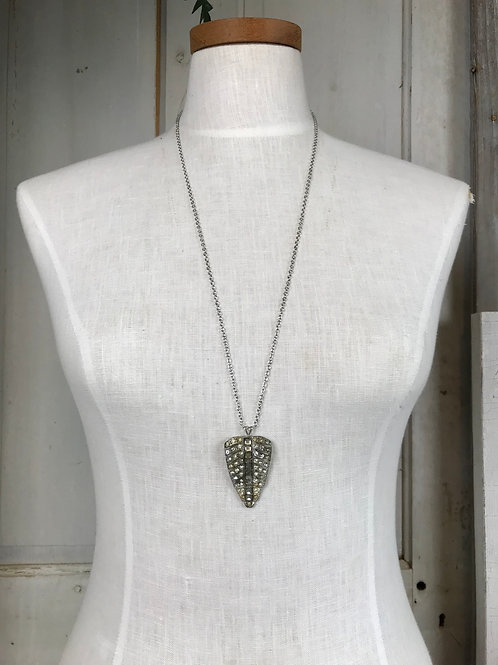 Long Silver Layering Necklace