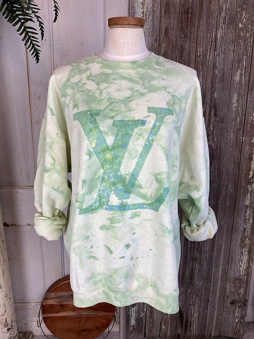Designer Inspired Bleached Sweatshirt